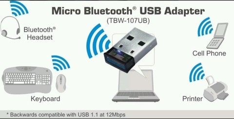 Adaptador Usb Micro Bluetooth Trendnet Clase 1 100 Mts. - OFERTAMAYOR