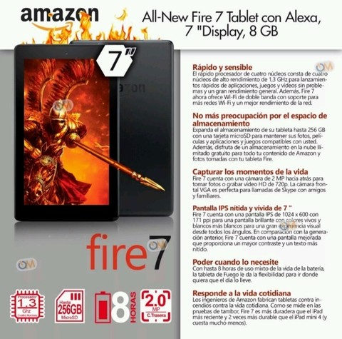 Tablet Amazon Kindle Fire Hd 10 2017 32gb 2gb Alexa 2018 - tienda online