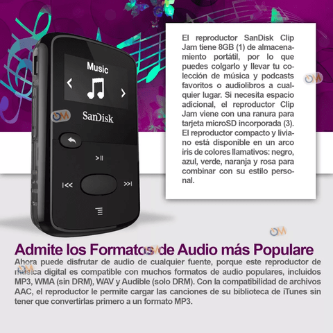 Reproductor De Mp3 Sandisk Sansa 8gb Clip Jam en internet