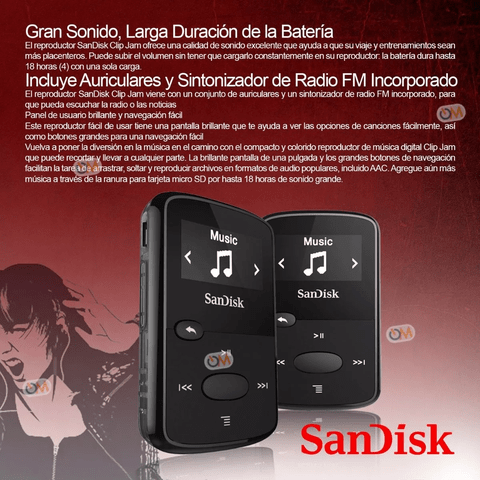 Reproductor De Mp3 Sandisk Sansa 8gb Clip Jam - OFERTAMAYOR