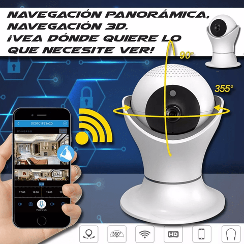 Cámara Seguridad Ip Wifi Hd 1080p Vision Nocturna 360 2mp en internet