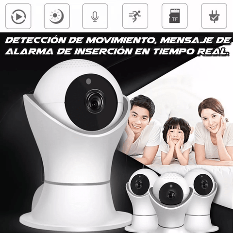 Cámara Seguridad Ip Wifi Hd 1080p Vision Nocturna 360 2mp - OFERTAMAYOR