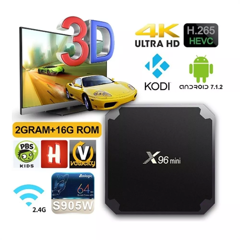 Smart Tv Box X96 Mini 2gb 16gb Quadcore S905w Android 7.1