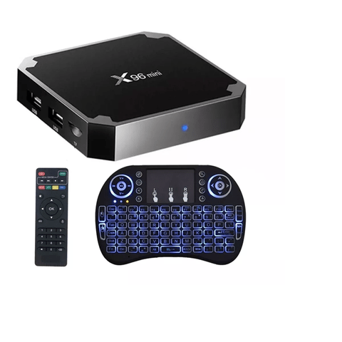 Smart Tv Box X96 Mini 2gb 16gb Quadcore + Teclado I8 Led