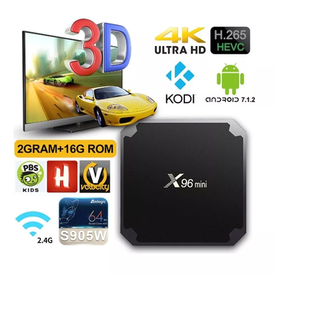 Smart Tv Box X96 Mini 2gb 16gb Quadcore + Teclado I8 Led - comprar online