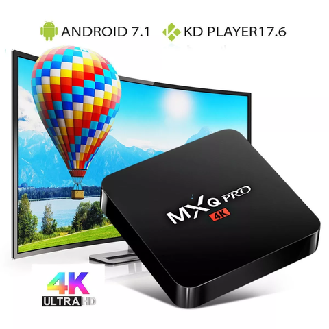 Smart Tv Box Mxq Pro 4k 1gb 8gb S905w Quadcore + I8 Teclado - comprar online