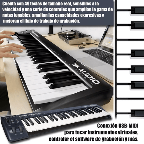 Controlador Teclado M-audio Keystation 49 Midi Usb en internet