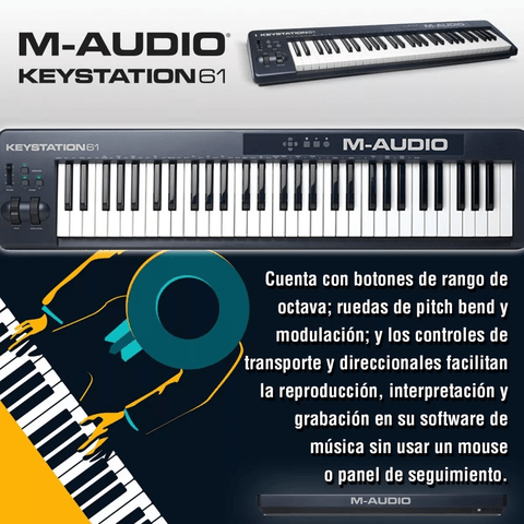 Controlador Teclado M-audio Keystation 61 Midi Usb en internet