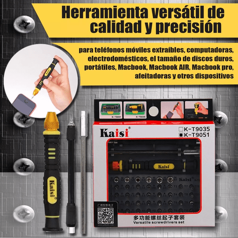 Kit Reparacion Destornillador Tarea General 51 En 1 Kt9051 - OFERTAMAYOR
