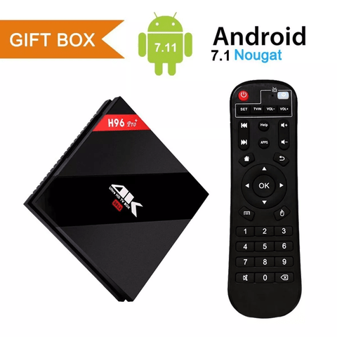 Tv Box H96pro H96 Pro Plus Android 7.1 Octa S912 3gb 32gb