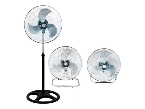Ventilador 18'' Kanji De Pie Turbo Y Pared 3 En 1