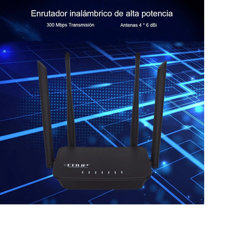 Edup Router Repetidor Wifi 300mbps 4 Antenas 6dbi Wirele - comprar online