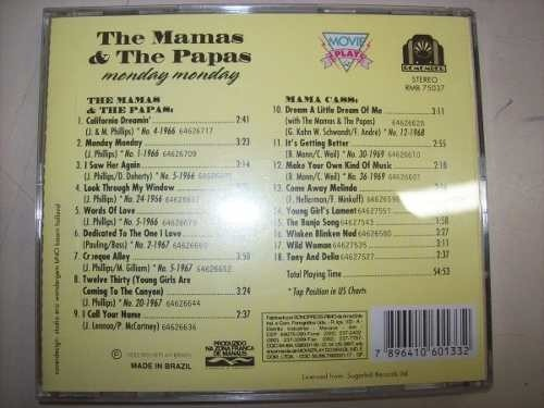 Cd - The Mamas & The Papas - Monday Monday - Nacional -usado - comprar online