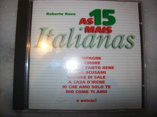 Cd - As 15 Mais Italianas - Roberto Bovo - Nacional - Usado