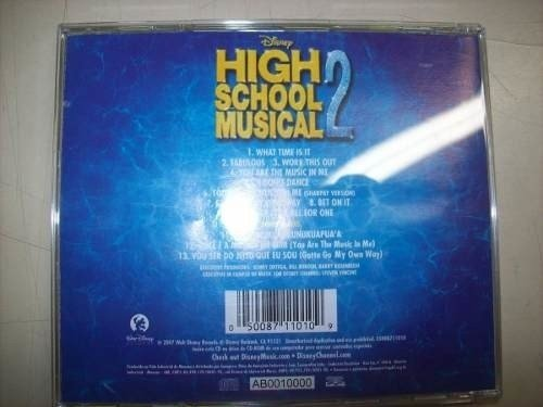 Cd - High School Musical 2 - Disney - Nacional - Usado na internet
