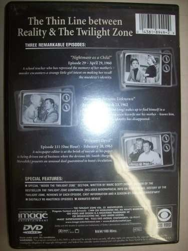 Dvd - The Twilight Zone - Volume 32 - Importado - Usado na internet