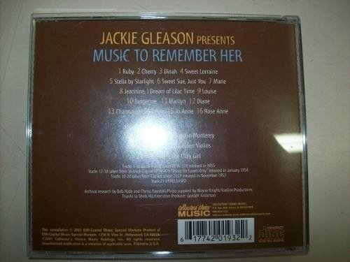 Cd - Jackie Gleason Presents - Music To Remember Her - Imp. na internet