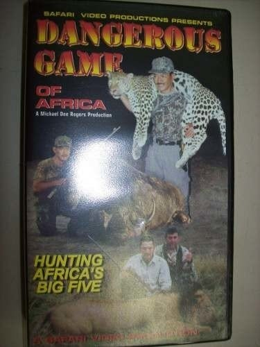 Vhs - Dangerous Game Of Africa - Importado - Usado
