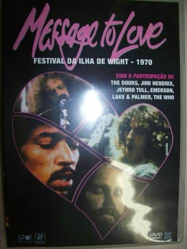 Dvd - Message To Love - Festival Da Ilha Wight - 1970 -usado