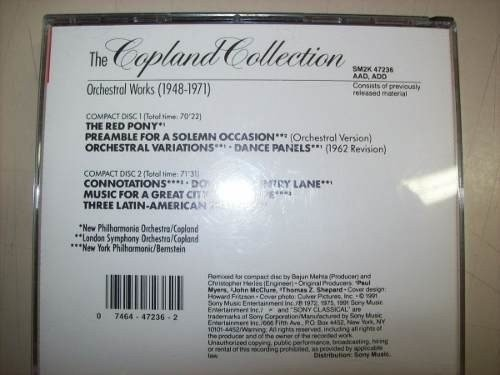 Cd - The Copland Collection - Orchestral Works - 1948-1971 - Always Discos