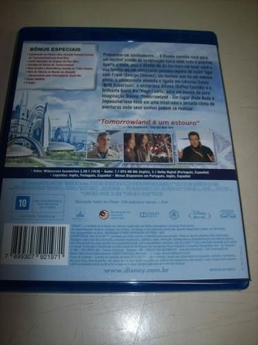 Blu Ray - Tomorrowland - George Clooney - Disney - Nacional na internet