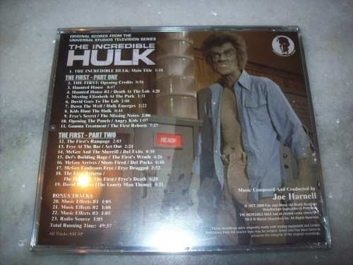 Cd - The Incredible Hulk - Joe Harnell - Vol.3 - Importado - comprar online