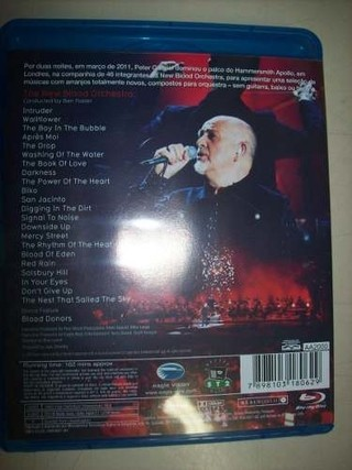 Blu Ray - Peter Gabriel -new Blood- Live In London -nacional - loja online
