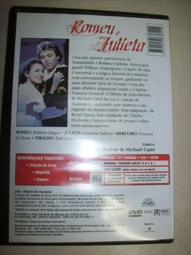 Dvd - Romeu E Julieta - The Royal Opera - Nacional - Usado na internet