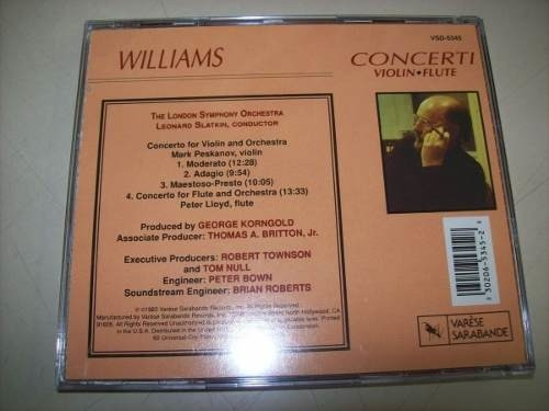 Lp - John Williams - Violin Concerto E Flute Concerto - Imp. na internet