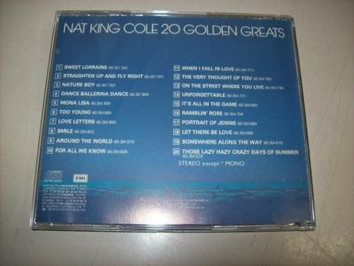 Cd - Nat King Cole - 20 Golden Greats - Nacional - Usado na internet