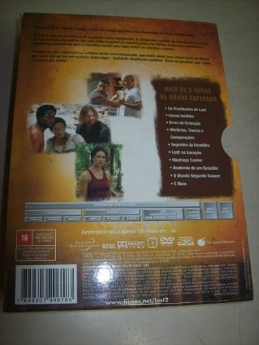 Dvd - Lost -2 Temporada Completa-box Com 7 Dvds-nacional na internet