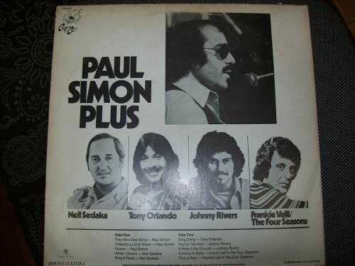 Lp - Paul Simon Plus - Johnny Rivers/neil Sedaka - Nacional - comprar online