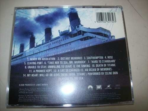 Cd - Titanic - James Horner - Nacional - Usado na internet
