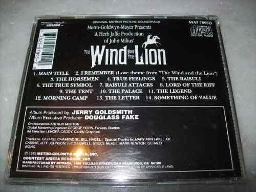 Cd - The Wind And The Lion - Jerry Goldsmith - Importado na internet