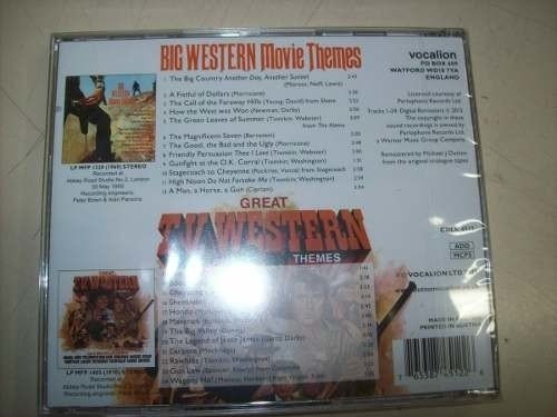 Cd - Big Western Movie Themes - Geoff Love - Importado - comprar online