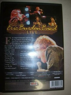 Dvd - The Eric Burdon Band Live - Nacional - Usado na internet