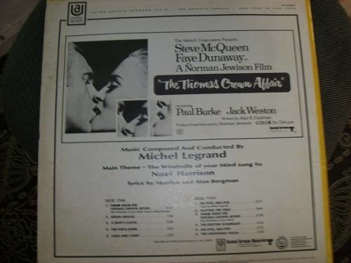 Lp - The Thomas Crown Affair - Michel Legrand - Importado - comprar online