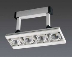 Aplique Aluminio Led 4 Luces Orientables Cuarto Living Tz10