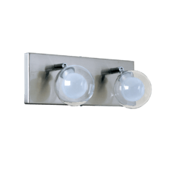 Aplique de pared de diseño de 2 luces G9 cristal y platil VGN.13