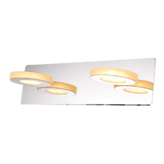 Luminaria aplique de pared 2 luces base cromo LED MRK.114 - comprar online