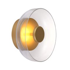 Aplique de pared / techo LED aluminio y cristal LEK.29