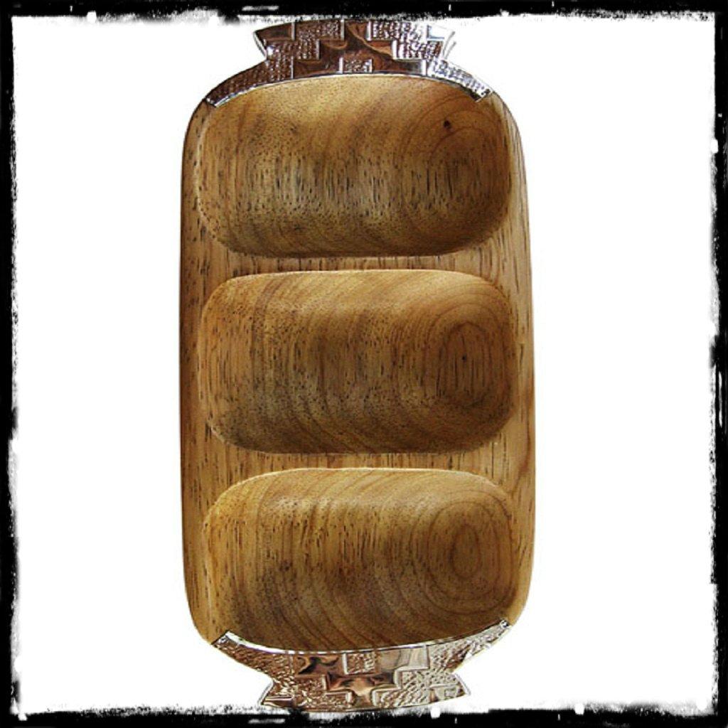 Fuente copetinero de madera y alpaca x3 divisiones - Divisiones en madera ...