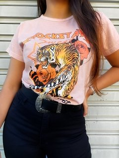 "T SHIRTS ROSE ""TIGRE"""