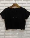 "Cropped t shirts moletinho black ""a girl is a gun"""