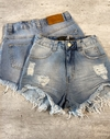 Shorts jeans cós alto lady rock alicia