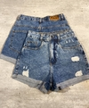 Shorts MOM jeans cós alto ZNL Laura