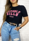 "Cropped t shirts black ""beverly hills"""