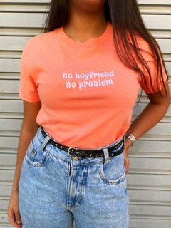 "CROPPED T SHIRTS ZNL ""NO BOYFRIEND, NO PROBLEM"""