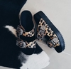 Birken black animal print alicia