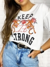"Cropped t shirts TRC ""keep strong"""